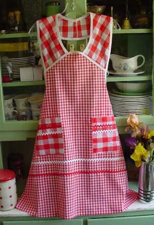 1940 Red Gingham