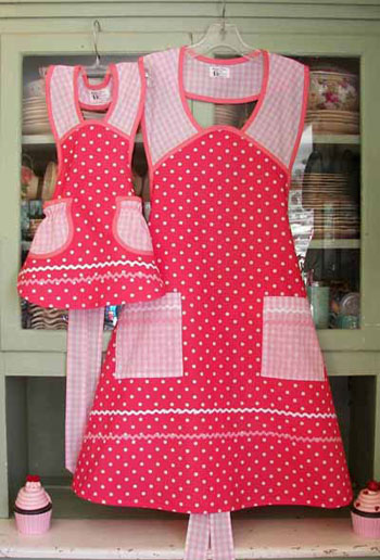 1940 in Pink Polka Dot Mother Daughter