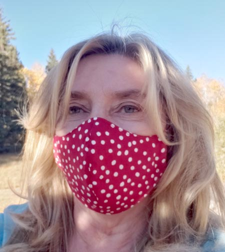 Face Mask red polka dot