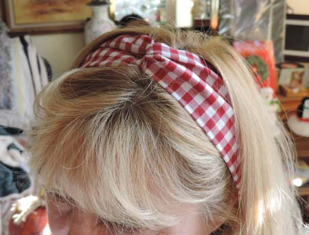 Lucy Hair Wrap in Red Gingham