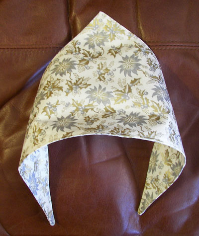 Golden Poinsettia Cat or dog scarf