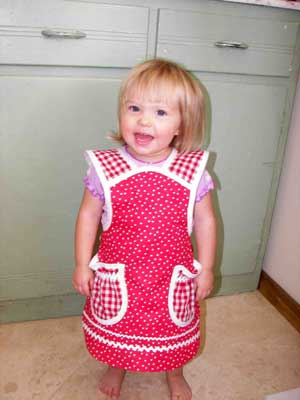 Little girl in polka dots