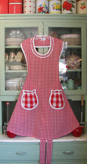 Aunt Rose in red gingham