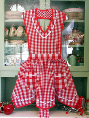Victory in  Red Gingham